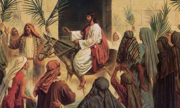 DOMINGO DE RAMOS: O INÍCIO DO FIM DO SOFRIMENTO DE JESUS