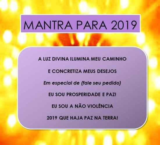2019 – MANTRA PARA CONCRETIZAR SEUS DESEJOS